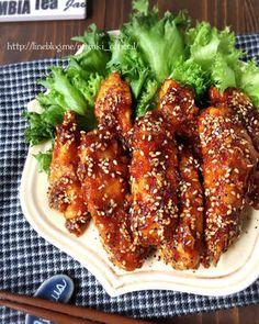 ♡揚げずに簡単名古屋風♡鶏むね肉deスティックチキン♡【#甘辛#フライパン#時短#節約】 レシピブログ Meat Recipes, Asian Recipes, Chicken Recipes, Cooking Recipes, Cooking Ideas, Food Ideas, My Favorite Food, Favorite Recipes, Eggplant Recipes