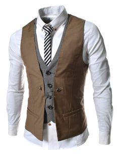 TheLees Herren Stilvoll geschichteten Stil schlanke Weste Taille Mantel Braun L(EU 50) TheLees http://www.amazon.de/dp/B00CCZTBKQ/ref=cm_sw_r_pi_dp_jNpqub1Q0P2YW