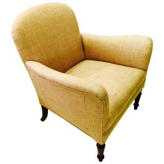 19th Century English Late Regency Mahogany Upholstered Armchair   From a unique collection of antique and modern armchairs at https://www.1stdibs.com/furniture/seating/armchairs/