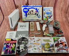 Nintendo Wii Console Bundle U Draw Game Tablet 7 Games FWO Incs 1 years warranty Tablet 7, Shrek, Just Dance, Nintendo Wii, Consoles, Draw, Games, To Draw, Console