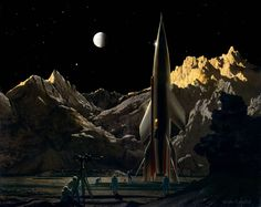Chesley Bonestell – Into The Fire | Graphicine