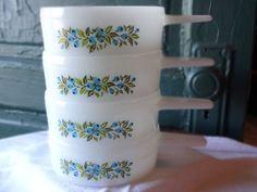 Vintage Glasbake Blueberry Design Jeanette Crock Bowl Set | SelectionsBySusan - Kitchen & Serving on ArtFire