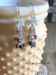 Purple Ombré Beaded Earrings by LaniMakana on Etsy
