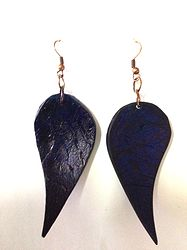 Carnival Coconut #earrings - #navy #shopstlucia #accessories #saintlucia #stlucia #necklace #handcrafted #handmade