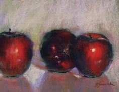 Apple Secrets by Barbara Jaenicke Pastel ~ 8 x 10