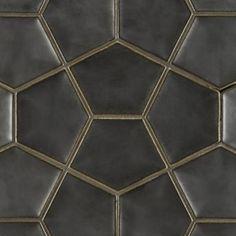 Ogassian Field Tile | ANN SACKS Tile & Stone | Penta | metallic black or nutmeg | master bath vanity wall | $99 sg ft | 8-10 wks lead time |