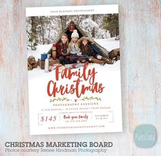 Christmas Mini Session Marketing Board IC052 from Paper Lark Designs