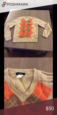 J Crew wool Argyle Sweater Great Condition J Crew Sweaters V-Necks