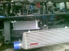 This was the previous intercooler with a Mocal oilcooler