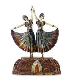 'THE DOLLY SISTERS' Art Deco, Art Nouveau Design, Dolly Sisters, Hello Dolly, Two By Two, Sculptures, Ivory, Bronze, Chiparus