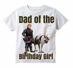 SUMMER SALE Dad Frozen Birthday Shirt   by SnapFishDay on Etsy