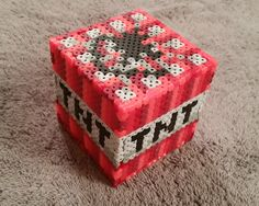 Minecraft TNT Block perler beads by GamingCraftsByAddy