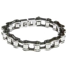 Picture of All Silver Bike Chain Bracelet
