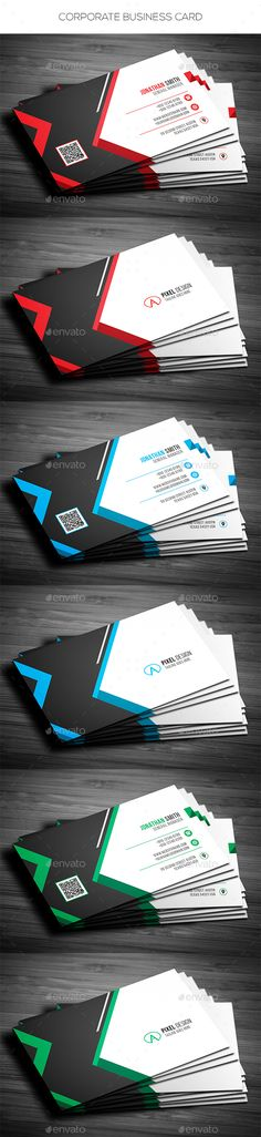 Corporate Business Card - Corporate Business Cards Download here : https://graphicriver.net/item/corporate-business-card/19362837?s_rank=60&ref=Al-fatih