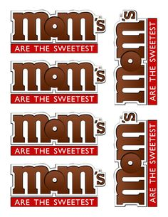 Sweet Treats for Mother's Day - FREE Printables! These sweet treats for Mother's Day include FREE printables! If your mom loves chocolate like I do, these are great gift ideas for Mother's Day. Mothers Day Crafts, Mother Day Gifts, Fathers Day, Crafts For Kids, Cute Mothers Day Ideas, Mothers Day Saying, Mothers Day Poems, Great Mothers Day Gifts, Vbs Crafts