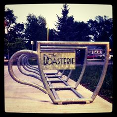 Bike rack in brookside. I hang out around these sometimes after grabbing something at the roasterie