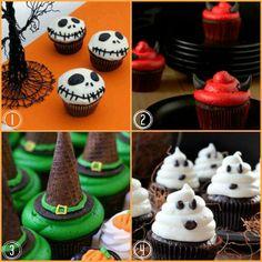 4  Easy Halloween Cupcake Ideas #halloween #cupcakes #holidays