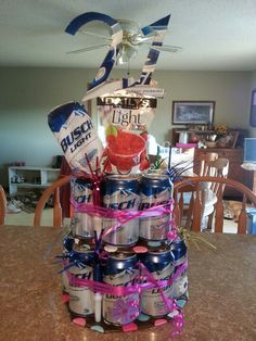 21st Birthday Beer Cake