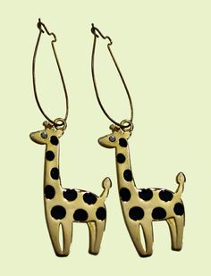 Giraffe earrings for @ Ashley Christine! Sister Love, To My Daughter, Giraffe Clothes, Giraffe Jewelry, Giraffe Print, Girls Jewelry, Swagg, Baby Love, Girly Things