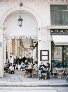 Paris sidewalks