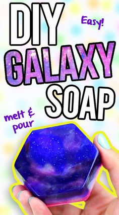 DIY Galaxy Soap. Wash your skin with a little outer space. This homemade galaxy soap is much easier to make than you think. Video tutorial