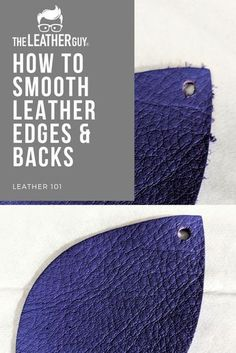 To Smooth The Rough Side of Your Leather - The Leather Guy walks you through smoothing your leather edges and fly-aways! -How To Smooth The Rough Side of Your Leather - The Leather Guy walks you through smoothing your leather edges and fly-aways! Diy Leather Earrings, Diy Earrings, Leather Jewelry Making, Leather Jewelry Tutorials, Gold Earrings, How To Make Earrings, Teardrop Earrings, Couture Cuir, Jewelry Crafts