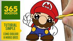 Mario Bros, Kawaii Drawings, Pencil Drawings, How To Draw Mario, Doodle Paint, Super Mario World, Molang, Kawaii Doodles, Rock Art