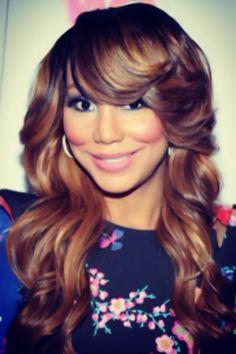 Tamar Braxton's luxurious curls