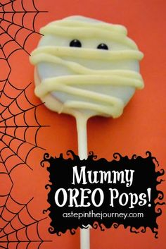 How to make the OREO Mummy Pops! Perfect for this Halloween!!