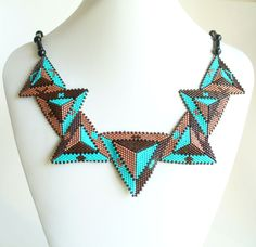 2534 Triangle necklace made by Darlene Pfahl                                                                                                                                                                                 More