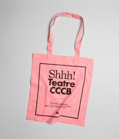 Shhh! Teatre CCCB #pink #shopper
