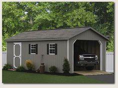 Large One Car Garage Ideas, single car garage door, single garage door width ~ Home Design