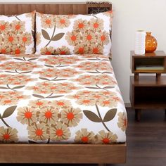 Orla Kiely Rhododendron Tea Rose Bed Linen
