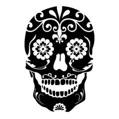 Mexican Sugar Skull Die-Cut Decal Car Window Wall Bumper Phone Laptop