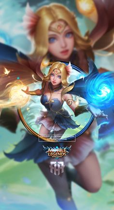 Wallpaper Phone Lunox Ash Blossom by FachriFHR - Wallpapers for Phones Mobile Legend Wallpaper, Hero Wallpaper, Cartoon Wallpaper, League Of Legends Characters, Female Characters, Miya Mobile Legends, Moba Legends, Creek South Park, The Legend Of Heroes