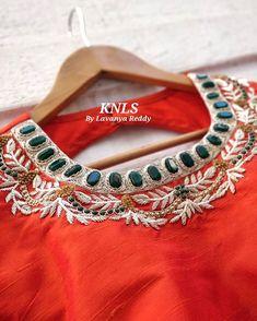 Pattu Saree Blouse Designs, Fancy Blouse Designs, Bridal Blouse Designs, Blouse Neck Designs, Hand Work Blouse Design, Stylish Blouse Design, Maggam Work Designs, Kurti Embroidery Design, Designer Blouse Patterns