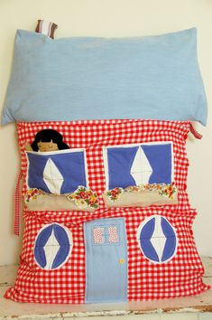 Super cute dollhouse pillow to one day sew for a special little girl.