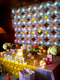 Main table idea and balloon background