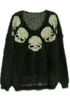 goddamn i love this sweater! #pastelgoth #grunge