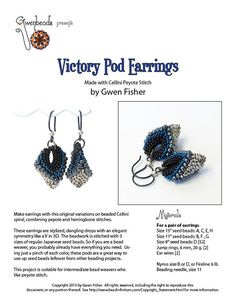 TUTORIAL Victory Pod Earrings Beaded with Cellini Peyote