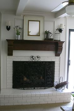 Cute fireplace remodel