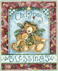teddy bears ~ Christmas Blessings by Shelly Rasche