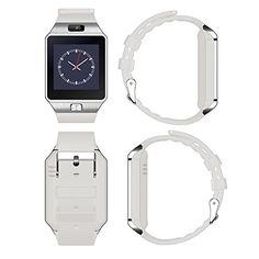 SCHITEC Smart Watch Latest Card Bluetooth, DZ09 380mAh Long Battery Life Smartphones Watch With SIM Card For Android Samsung Galaxy S7 S6 S5 Edge,Nexus,HTC,Sony,Huawei (White) 17.99  #1.53*2.2*0.51inch #AndroidMobilePhoneSamsung #AnswerCall #Ant-lostFunction:Seekmobilephone,Tow-wayantilost;SyncFunction:QQ,Wechat,Twitter,Facebook.HDdisplay:Highsensitivecapacitivetouchscreen #BluetoothVer...