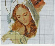 Gallery.ru / Фото #3 - 32 - evbo80 Cross Stitch Angels, Cross Stitch Needles, Simple Cross Stitch, Cross Stitch Designs, Cross Stitch Patterns, Cross Stitching, Cross Stitch Embroidery, Mary And Jesus, Religious Cross