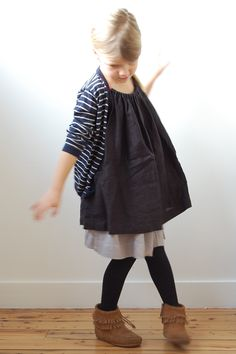 Great layering. I'm a sucker for old world poof-y dresses and leggings. Arthur ( ♥ ) Zoé: I'm 5