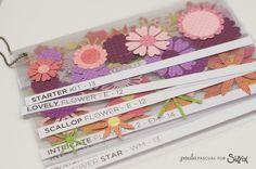 CRAFTY STORAGE: Swatchbook for all your flower dies.