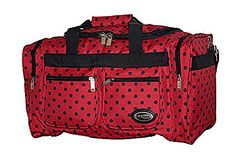 Ez Luggage Travel Gear 30 Duffel Bag Polka Dots Red W  Black Dots >>> Learn more by visiting the image link. (Note:Amazon affiliate link)