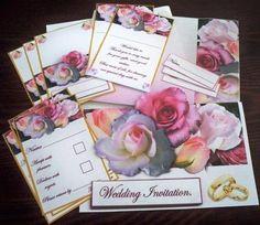 Rose Wedding Stationary - CUP366084_906   Craftsuprint