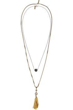 Isabel Marant|Set of two tasseled crystal necklaces |£155 at NET-A-PORTER.COM