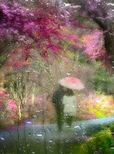 Summer walk in the rain...how romantic.